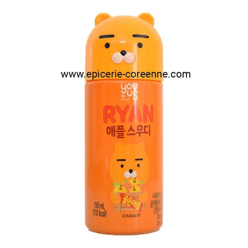 [KAKAO Friends - Ryan] Smoothie à la pomme - YOUUS, 190 ml.