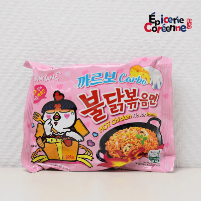 Hot chicken flavor ramen CARBO - Samyang, 151 g.