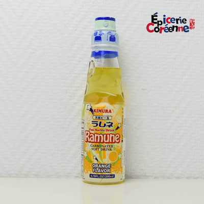 Soda ramune à l'orange - Kimura, 200 ml.