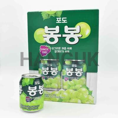 "Pack de 12 jus de raisin ""BongBong"" - Haitai, 238 ml."