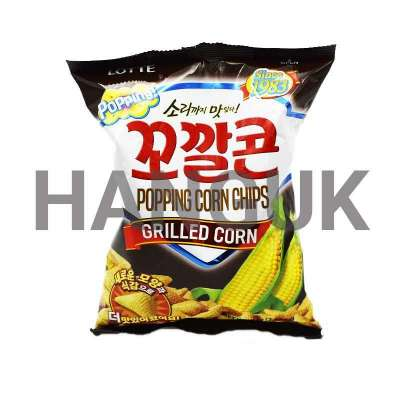 Popping Corn Chips 꼬깔콘, saveur grillé - LOTTE