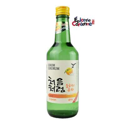 Soju Chum Churum, saveur Yuzu, 360 ml.