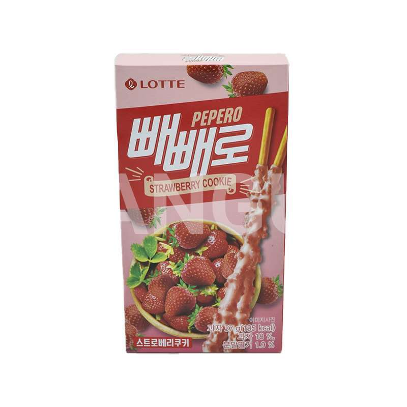 PEPERO Strawberry Cookie - LOTTE,  37gr  - 1