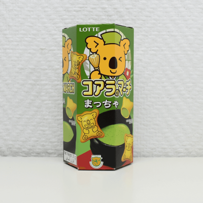 Koala's March, saveur Matcha - Lotte, 37 g.