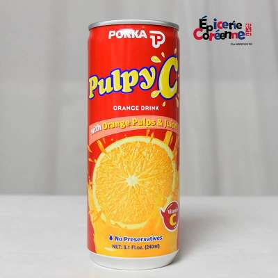 Jus d'orange Pulpy C – POKKA, 240 ML.