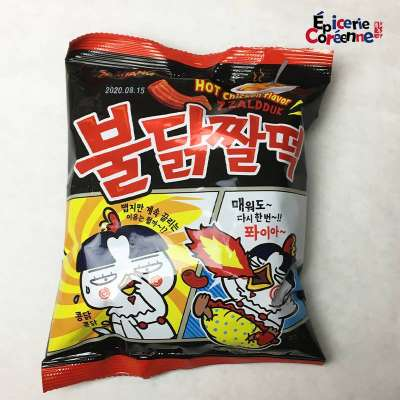 Snack ZZaldduk HOT CHICKEN FLAVOR - SAMYANG, 120g.