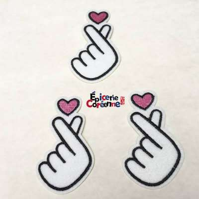 "Patch Thermocollant ""Sarang Heart"" (blanc)"